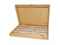 Set 48 acuarele rusesti White Nights in cutie din lemn