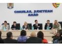 ES Lazar Manojlovic, Consul General Serbia, Dl. Micah Savidge, Consilier Politic, Ambasada SUA, Deputat (Arad) Claudia Boghievici deschid evenimentul pe 23.10.2012 la sediul CJ Arad