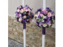 Buchetele de flori  necesare la o nunta si lumanarile atent accesorizate