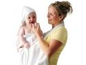 calorifere de baie. Prosop de baie pentru bebelusi si mama Clevamama