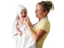 baterie baie. Prosop de baie pentru bebelusi si mama Clevamama