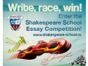 Shakespeare School Essay Competition. Au mai ramas doar 9 zile de inscriere la Shakespeare School Essay Competition!