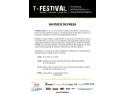 cluj 7 martie 2015. Invitație Conferință de Presă T-Festival, 12 martie 2015