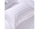 Lenjerie de pat damasc in dungi pentru hotel - Niky Decor