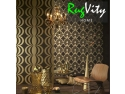 tapet decorativ cu dungi. tapet profile decorative RugVity