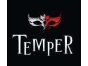 bijuterii cu diamante. logo TEMPER