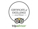 blue. TripAdvisor Certificate of Excellence 2015