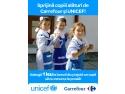 UNICEF şi Carrefour ajută copiii să meargă la şcoală
