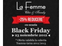 cherchez la femme. La Femme iti aduce super reduceri de Black Friday