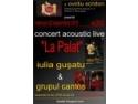 palat. Concertele acoustic live `La Palat` debuteaza azi, 22 septembrie, ora 20:00