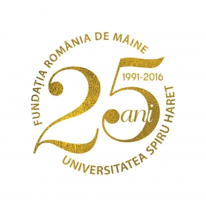 Logo aniversar Universitatea Spiru Haret 25 de ani
