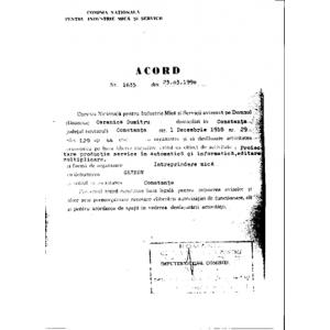 tae bo. Acord Nr. 1635 din 23.03.1990