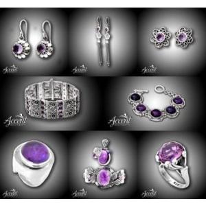 Colectia Accent - bijuterii din argint cu ametist