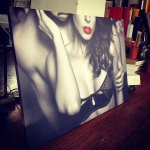 tablouri grand canvas. Tablou grand canvas alb negru Tobi Deco Design