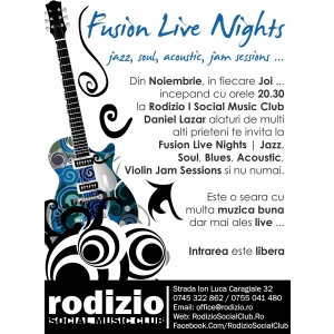 rodizio. Fusion Live Nights @ Rodizio | Social Music Club
