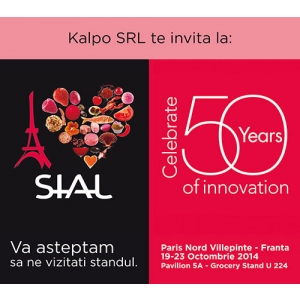 produse alimentare bio. Firma buzoiană Kalpo participă la Târgul internaţional de produse alimentare Sial Paris 2014