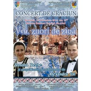 Roxana Reche. Afis - Concert de Craciun Alexandru Pal si Roxana Reche