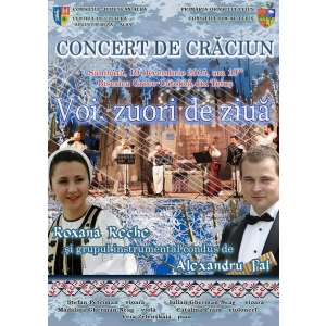catedrala catolica. Afis - Concert de Craciun 2015, Teius - Roxana Reche si Alexadnru Pal