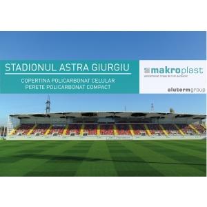 stadion. Stadion Astra Giurgiu, copertina Makroplast, divizie Aluterm Group