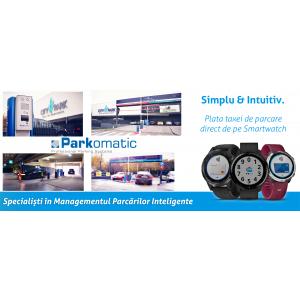 Lider în Sistemele de Parcare Inteligentă, Parkomatic introduce  Plata Taxei de Parcare direct de pe Smartwatch Garmin!
