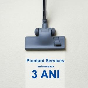 Piontani Services aniverseaza 3 ani de activitate, prin lansarea celui mai avantajos abonament de curatenie
