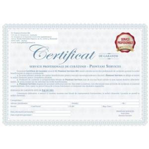 Piontani Services ofera certificat de garantie pentru servicii profesionale de curatenie