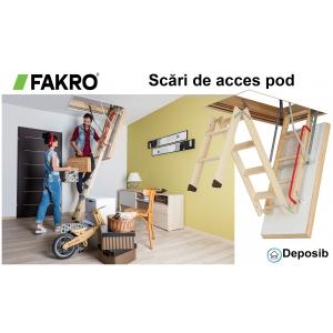 Solutii profesionale pentru accesul la pod - scarile Fakro de la Deposib