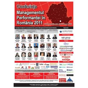 conferinta managementul performantei Sibiu 2011. Conferinta Managementul Performantei in Romania 2011