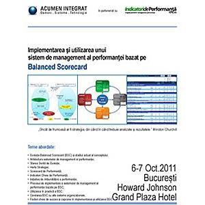 Curs Balanced Scorecard. Curs deschis