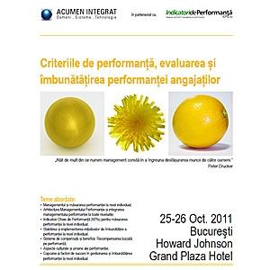 criterii de performanta a angajatilor. Curs Criteriile de performanta, evaluarea si imbunatatirea performantei angajatilor