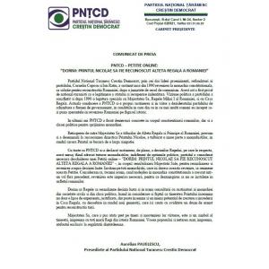 """principele nicolae al romaniei. PNTCD – PETITIE ONLINE: """"DORIM: PRINTUL NICOLAE SA FIE RECUNOSCUT ALTETA REGALA A ROMANIEI"""""""