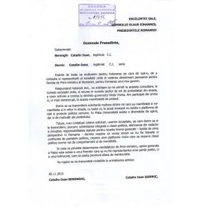 klaus iohannis. Apel către Presedintele Klaus Iohannis de la Societatea Civilă Piața Universității