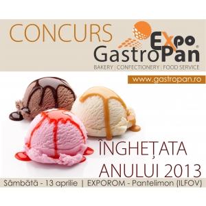 inghetata. Gustati Inghetata Anului 2013 vizitand expozitia GastroPan!