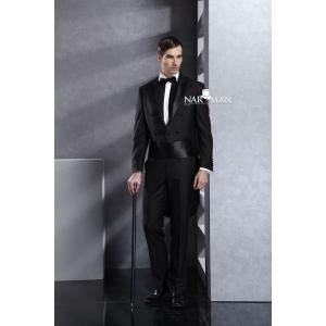inchiri. Frac negru din lana tropicalizata cu finete superioara, marca Narman