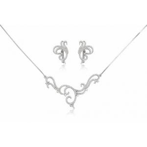 bijuterii mireasa. set din argint cu zirconii
