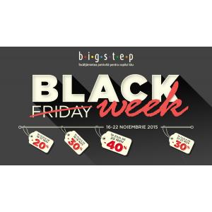 clubul bigstep. La Bigstep Black Friday devine Black Week!