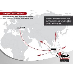transport maritim de marfa. Harta serviciului de grupaj export din Constanta