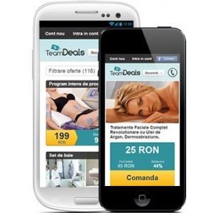 aplicatie teamdeals android. Aplicatia mobila android
