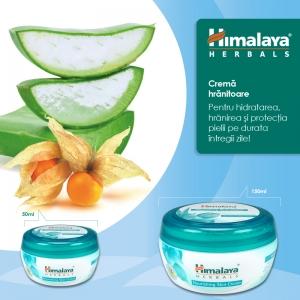 Protectie, hranire si hidratare utilizand Crema hranitoare Himalaya Herbals!