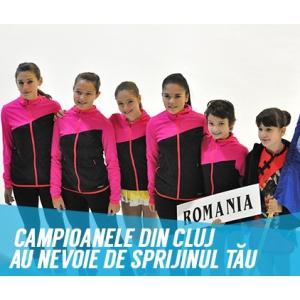 #sustinemsportul. Echipa de patinatoare - Campanie