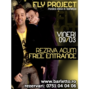 fly project. Fly Project Live @ Barletto Club