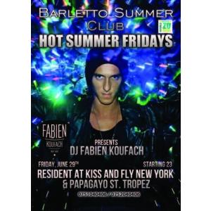 HOT SUMMER FRIDAYS @BARLETTO SUMMER CLUB!