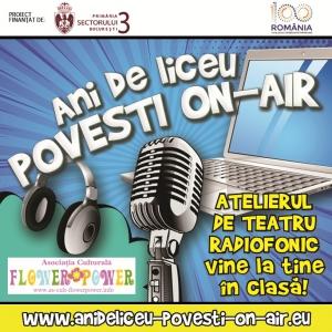 Ani de liceu-Povești on-air, un proiect dedicat promovării teatrului radiofonic in liceele din sectorul 2