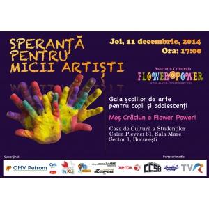 Asociatia Culturala Flower Power premiaza micii artisti si profesorii de arte, la final de an
