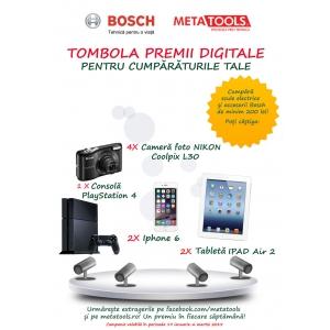 """premii. BOSCH şi METATOOLS prezintă tombola """"Premii digitale pentru cumpărăturile tale!"""""""