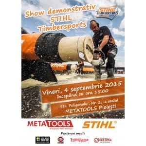METATOOLS și STIHL îi aduc la Ploiești pe cei mai iscusiți tăietori de lemne din România!