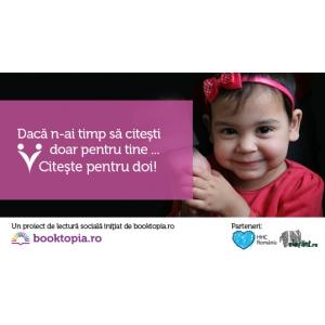 Booktopia. Campanie de voluntariat: CITEȘTE PENTRU DOI!