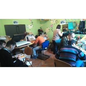 tineri cu dizabilitati severe. Atelier lucrativ pentru tineri cu dizabilitati mintale severe
