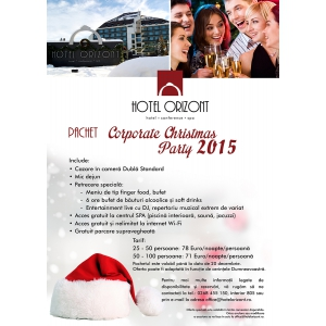 christmas party. Hotelul Orizont din Predeal lansează oferta Corporate Christmas Party