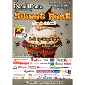 Sweet Fest, festivalul dulciurilor gourmet, anunta extravaganta editie de Halloween